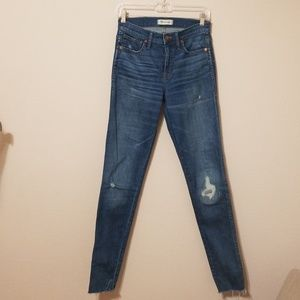 Madewell High Rise Skinny Distressed Jeans 26 Tall